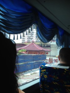 From the bus on the way to our hotel.